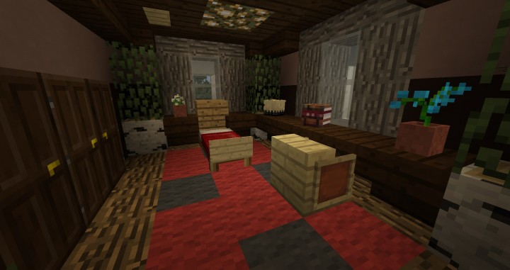 The first guest room.
