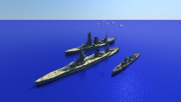 IJN WWll Battleships Minecraft Map & Project