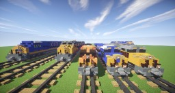 GE Evolution Series Diesel Locomotives (CSX, BNSF & Union Pacific) Minecraft