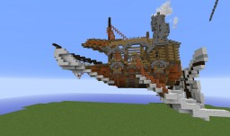 Another Steampunk Airship Minecraft Map & Project