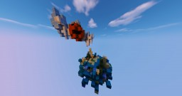 Fish on a Flying Island Fantasy Minecraft Map & Project
