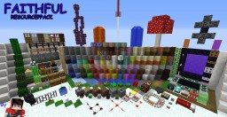 FAITHFUL | 1.9 - 1.12x RESOURCE PACK | 20k Downloads ! Minecraft Texture Pack