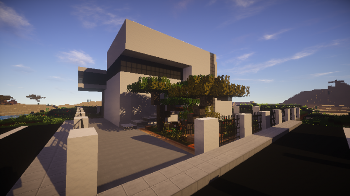 Modern house 2 woodland mc minecraft project for Modern house mc