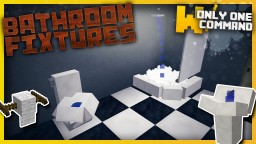 Bathroom fixtures with only one command block Minecraft Map & Project