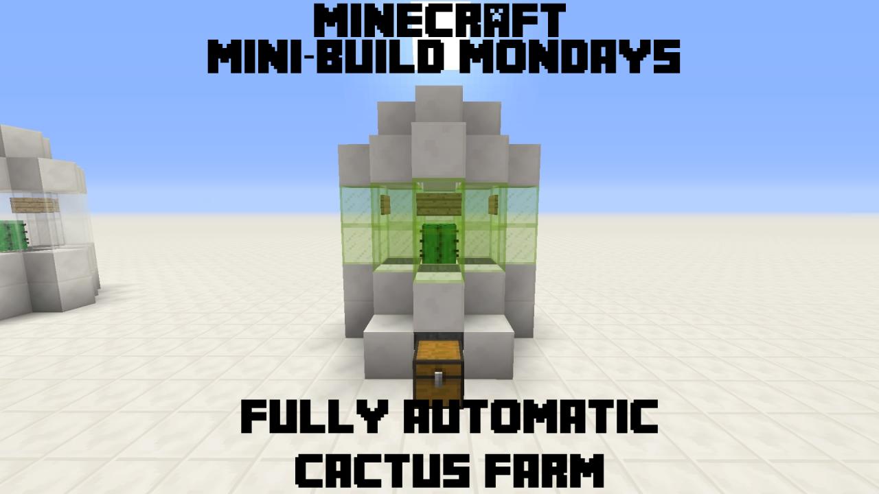 100 Automatic Cactus Farm Compact Survival Friendly Minecraft Blog