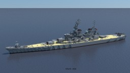 USS New Jersey (BB-62) 1969 Minecraft