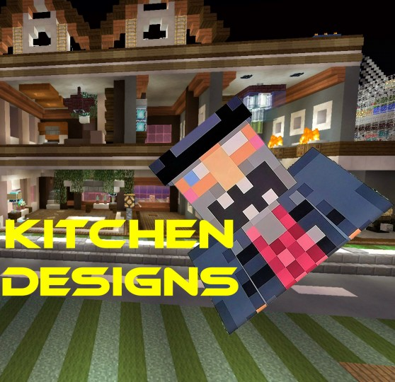 3 modern kitchen designs tutorial minecraft blog - Kitchen design tutorial ...