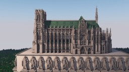 Reims Cathedral Minecraft Project