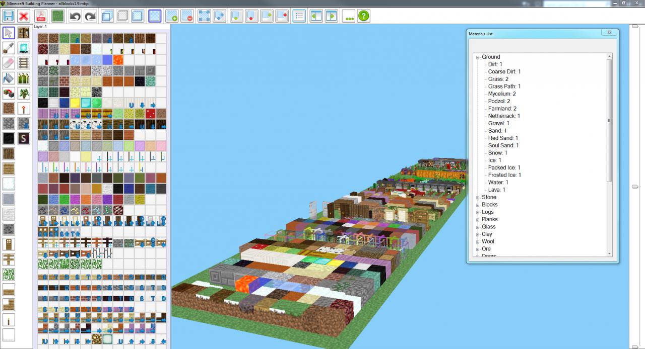 Minecraft building planner version 1 updated 11 24 for Blueprint creator