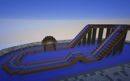 Aquatus- A Small Log Flume Coaster Minecraft Project