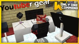 Youtuber Gear with only one command block Minecraft Map & Project