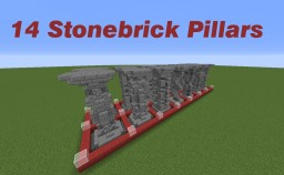 Pillars Pack: 14 stonebrick based pillar designs! Minecraft Map & Project