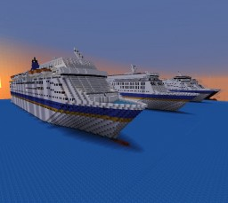 P&O Australia Ex and present day Fleet Minecraft
