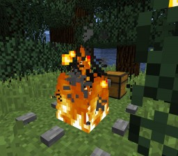 Throw-down anywhere Fire pit [with cooking][1.9+ only][Vanilla] Minecraft Map & Project