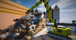 Vehicle - Liebherr Excavator with Demolition Boom Minecraft