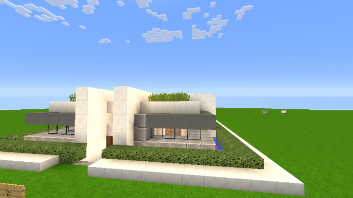 Modern house 1 18x18 slot minecraft project for Modern house 18x18