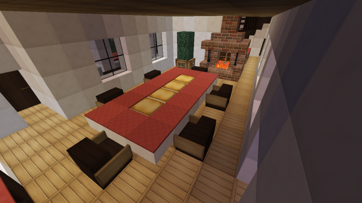 Maison n 1 minecraft project for Salle a manger minecraft