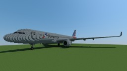 [Full Interior] [Download] GIANT Airbus A320neo - American Airlines Livery Minecraft Map & Project