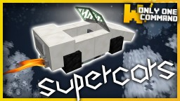 Supercars with only two command blocks! Minecraft Map & Project