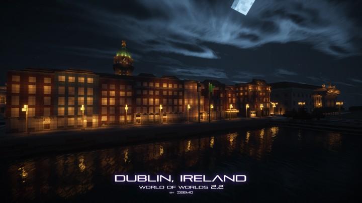 Arran Quay Street by night