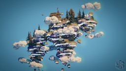 Belvedere Skyville - Golden Cloud Skyblock Spawn Minecraft