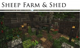 Sheep Farm & Shed - #WeAreConquest Minecraft
