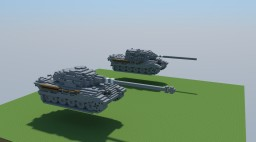 Panzer VI Ausf. B  Tiger2 & Jagdtiger (4:1) Minecraft Map & Project