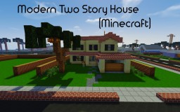 Two Story Modern House Minecraft Map & Project