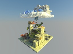 =-The Lost Kingdom In The Skies-= [Desert Detour - Solo Project Contest] Minecraft Map & Project