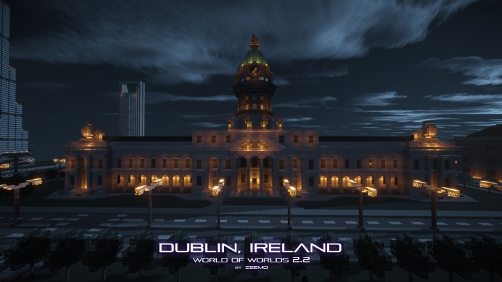 View of the Custom House by night