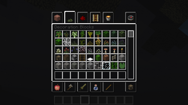 GUI and decoration blocks