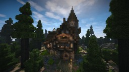 Medieval Village Tavern (Timelapse + Download) Minecraft