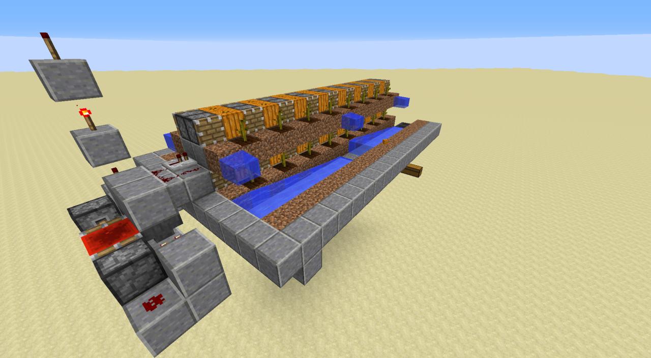 Fully Auto pumpkin farm 1.8/1.9 Minecraft Project