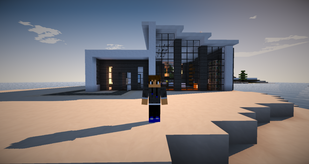 Modern house build minecraft project for Modern house projects