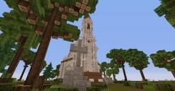 White neogothic church Minecraft Project