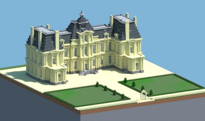 Chateau de maisons laffitte minecraft project - Chateau de minecraft ...