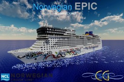 Norwegian EPIC 1:1 Scale Replica [Full-Interior] [+Download] Minecraft Map & Project