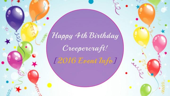 Creepercraft Birthday Event