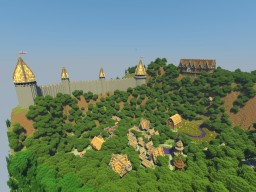 =- Village of Athalos -= [Small - Medival Village] ~Custom Terrain~ Minecraft Map & Project