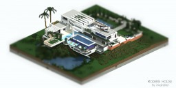 Modern House in the Hill.-DOWNLOAD! Minecraft Map & Project