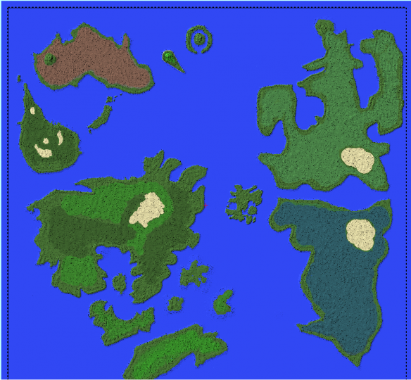 Hunter X Hunter World Map No Buildings Just Custom Biomes And