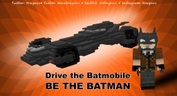 Drive the Batmobile! 3D Block model Minecraft Map & Project