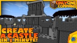 Castle Generator in one command! Minecraft