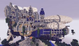 Steampunk Flying City Spawn - Popreal! Minecraft
