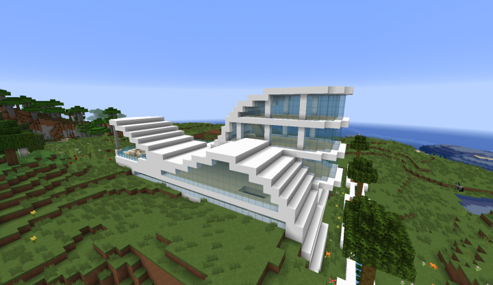 12 Modern House Minecraft Project