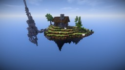 A floating island Minecraft Map & Project