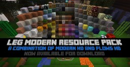 LEG Modern Resource Pack - A Combination Of Modern HD & Flows HD [Discountinued] Minecraft Texture Pack