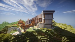 Modern House - Fully furnished + downloadable Minecraft Map & Project