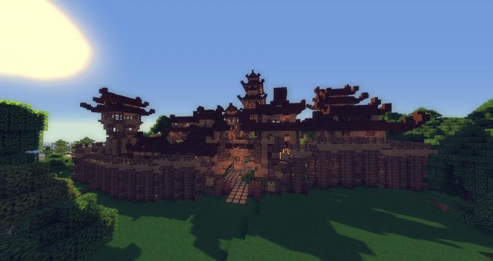 Japanese Style Village Semper Fi Minecraft Project