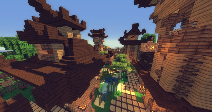 Japanese Style Village Semper Fi Minecraft Project